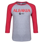Albania Euro 2016 Junior Core 3/4 Sleeve T-Shirt (Heather Red)