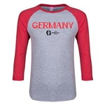 Germany Euro 2016 Junior Core 3/4 Sleeve T-Shirt (Heather Red)