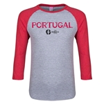 Portugal Euro 2016 Junior Core 3/4 Sleeve T-Shirt (Heather Red)