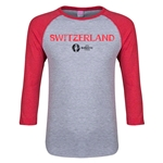 Switzerland Euro 2016 Junior Core 3/4 Sleeve T-Shirt (Heather Red)