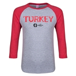 Turkey Euro 2016 Junior Core 3/4 Sleeve T-Shirt (Heather Red)