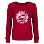 Bayern Munich Halftone Junior Women's Pullover (Red)