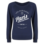 Paris Saint-Germain Circle Script Junior Women's Pullover (Navy)