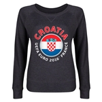 Croatia Euro 2016 Junior Fashion Pullover (Dark Grey)