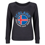 Iceland Euro 2016 Junior Fashion Pullover (Dark Grey)