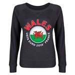 Wales Euro 2016 Junior Fashion Pullover (Dark Grey)