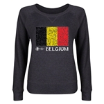 Belgium Euro 2016 Junior Fashion Flag Pullover (Dark Grey)