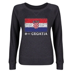 Croatia Euro 2016 Junior Fashion Flag Pullover (Dark Grey)