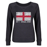 England Euro 2016 Junior Fashion Flag Pullover (Dark Grey)