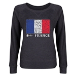 France Euro 2016 Junior Fashion Flag Pullover (Dark Grey)