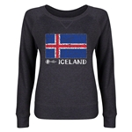 Iceland Euro 2016 Junior Fashion Flag Pullover (Dark Grey)