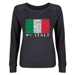 Italy Euro 2016 Junior Fashion Flag Pullover (Dark Grey)