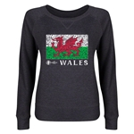 Wales Euro 2016 Junior Fashion Flag Pullover (Dark Grey)