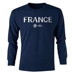 France Euro 2016 Junior Core Pullover (Navy)