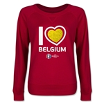 Belgium Euro 2016 Junior Heart Pullover (Red)