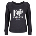 England Euro 2016 Junior Heart Pullover (Dark Grey)