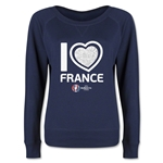 France Euro 2016 Junior Heart Pullover (Navy)