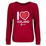 Iceland Euro 2016 Junior Heart Pullover (Red)