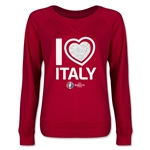 Italy Euro 2016 Junior Heart Pullover (Red)