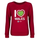Wales Euro 2016 Junior Heart Pullover (Red)