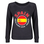 Spain Euro 2016 Junior Fashion Pullover (Dark Grey)