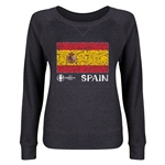 Spain Euro 2016 Junior Flag Pullover (Dark Grey)
