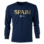 Spain Euro 2016 Junior Core Pullover (Navy)