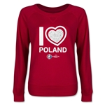Poland Euro 2016 Junior Heart Pullover (Red)