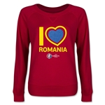 Romania Euro 2016 Junior Heart Pullover (Red)