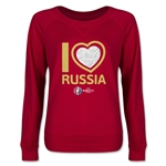 Russia Euro 2016 Junior Heart Pullover (Red)