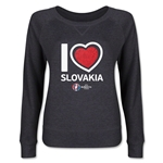 Slovakia Euro 2016 Junior Heart Pullover (Red)