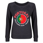 Portugal Euro 2016 Junior Fashion Pullover (Dark Grey)
