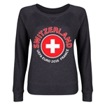 Switzerland Euro 2016 Junior Fashion Pullover (Dark Grey)
