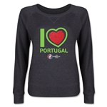 Portugal Euro 2016 Junior Heart Pullover (Dark Grey)