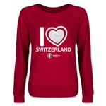 Switzerland Euro 2016 Junior Heart Pullover (Red)