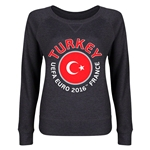 Turkey Euro 2016 Junior Fashion Pullover (Dark Grey)
