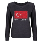 Turkey Euro 2016 Junior Flag Pullover (Dark Grey)