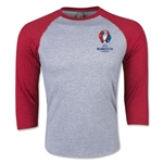 UEFA Euro 2016 3/4 Sleeve Core T-Shirt (Heather Red)
