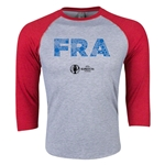 France Euro 2016 3/4 Sleeve Elements T-Shirt (Heather Red)