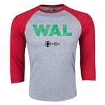 Wales Euro 2016 3/4 Sleeve Elements T-Shirt (Heather Red)