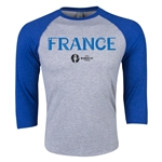 France Euro 2016 3/4 Sleeve Core T-Shirt (Heather Royal)