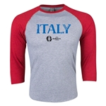 Italy Euro 2016 3/4 Sleeve Core T-Shirt (Heather Red)