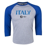 Italy Euro 2016 3/4 Sleeve Core T-Shirt (Heather Royal)