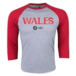 Wales Euro 2016 3/4 Sleeve Core T-Shirt (Heather Red)