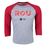 Romania Euro 2016 3/4 Sleeve Elements T-Shirt (Heather Red)