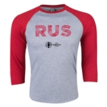 Russia Euro 2016 3/4 Sleeve Elements T-Shirt (Heather Red)