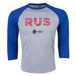 Russia Euro 2016 3/4 Sleeve Elements T-Shirt (Heather Royal)