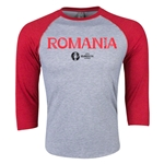 Romania Euro 2016 3/4 Sleeve Core T-Shirt (Heather Red)