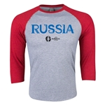 Russia Euro 2016 3/4 Sleeve Core T-Shirt (Heather Red)