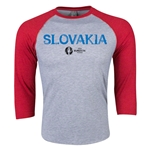 Slovakia Euro 2016 3/4 Sleeve Core T-Shirt (Heather Red)